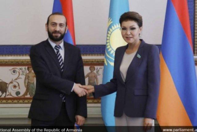 Председатели парламентов РА и Казахстана подчеркнули всестороннее развитие отношений