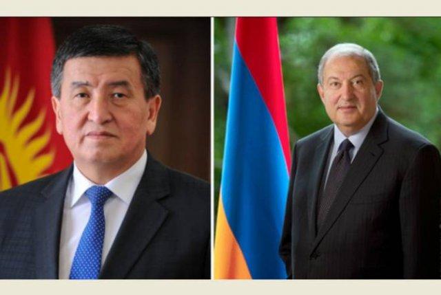Армен Саркисян направил поздравительное послание президенту Кыргызстана Сооронбаю Жээнбекову