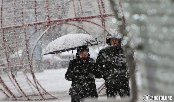 Главный синоптик Армении предупредил о снеге и резком похолодании