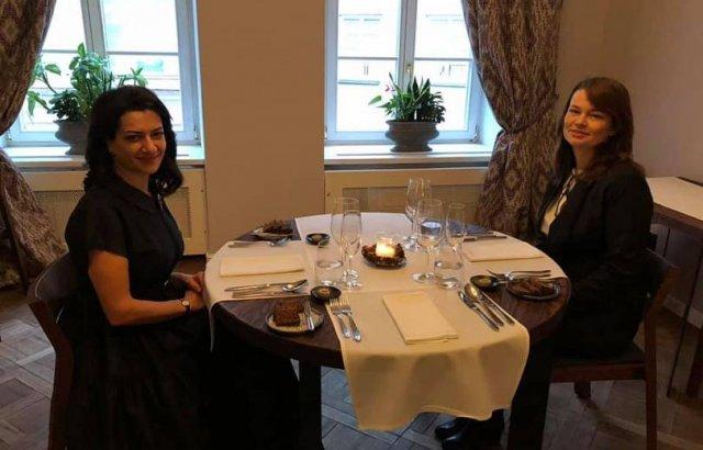 Анны Акопян в Вильнюсе пообедала с супругой премьера Литвы