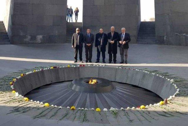 Делегация Египта на международной конференции посетила Мемориал в Цицернакаберде