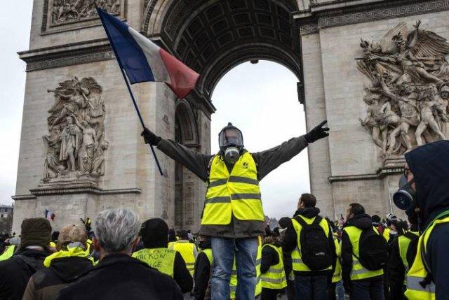 В Париже усилены меры безопасности в связи с протестами «желтых жилетов»