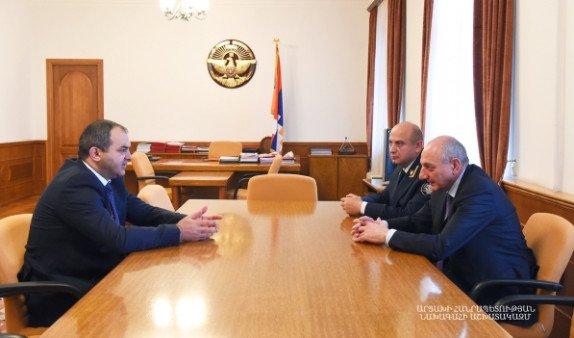 Бако Саакян встретился с генпрокурором Армении Артуром Давтяном