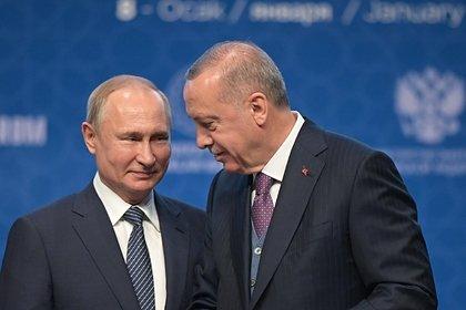 Путин встретился с Эрдоганом