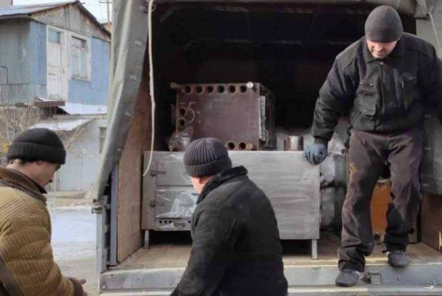 Социально необеспеченным семьям в Гюмри предоставляют печи и топливо в брикетах