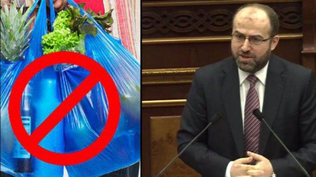 Эрик Григорян: Предлагаем запретить использование одноразового пластика в Армении