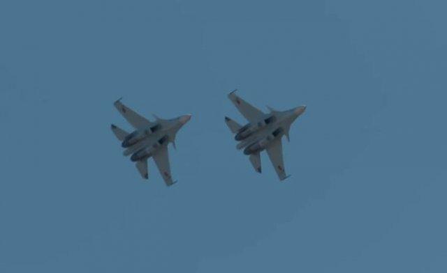 В Армении истребители Су-30СМ начали интенсивные тренировки и учебные полеты