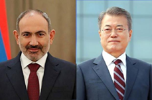 Никол Пашинян поздравил президента Республики Корея по случаю Национального праздника