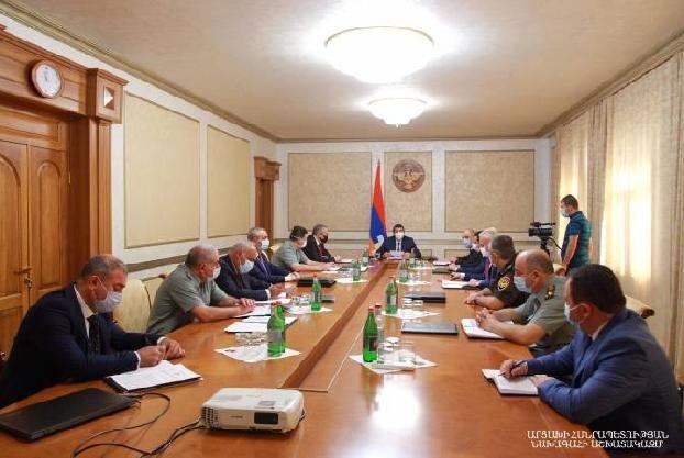 Под председательством президента Арцаха состоялось первое заседание Совета безопасности