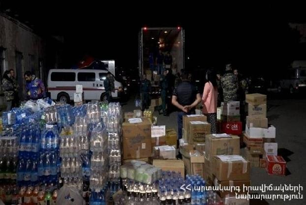МЧС Армении доставляет гуманитарную помощь в Арцах