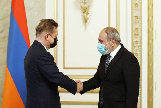 Никол Пашинян и Алексей Миллер обсудили вопросы армяно-российского энергетического сотрудничества