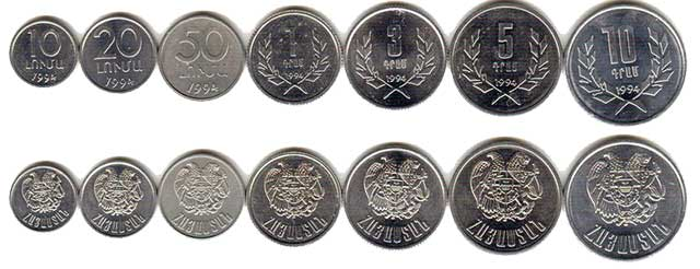 Армянский драм - монеты